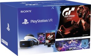 PlayStation VR + Camera + Gran Turismo Sport + VR Worlds Voucher PLATZ 4